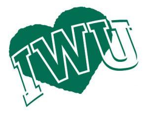 IWU written over a green heart