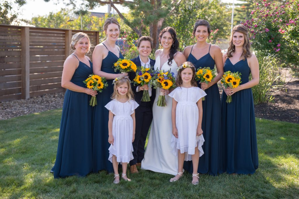 Maggie and Rachel's wedding party