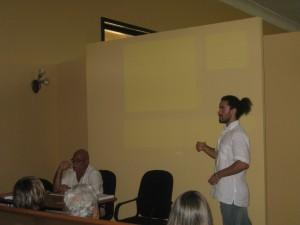 Schofield Colin presenting paper in Cuba