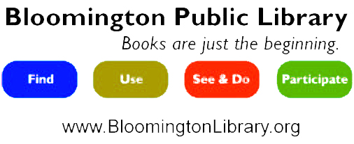 Image result for bloomington public library logo