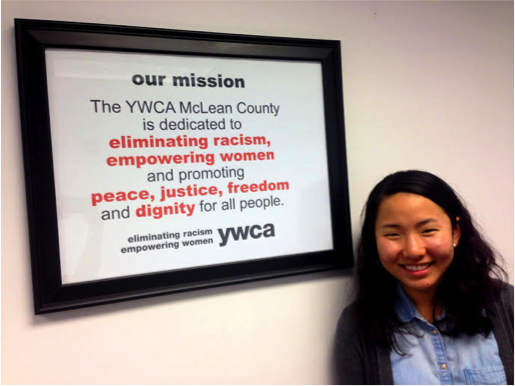 Sarah Bergman at YWCA for her CPP internship