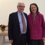 Jack Walsdorf and Florence Boos after the opening convocation.