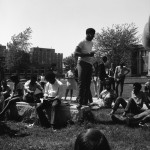 Class walkout, sponsored by the Black Student Association, May 18, 1970