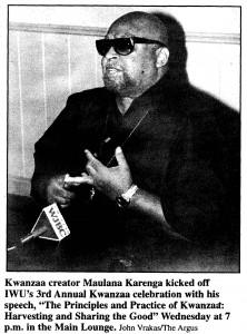 1998 Kwanzaa Karenga