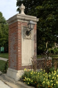 IWU West Gate. Found on IWU Website.