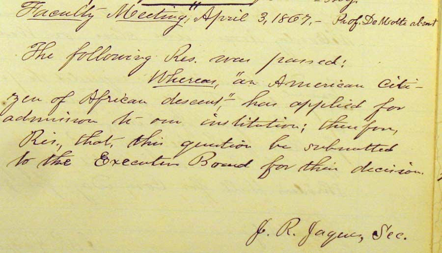 April 17, 1867 Faculty Meeting Minutes, RG 10-1/1/1