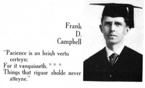 Frank D. Campbell Yearbook Picture