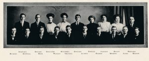 Adelphic Society members, 1909 Wesleyana