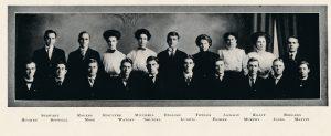 Adelphic Society members, 1909 Wesleyana