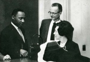Dr. King and IWU faculty