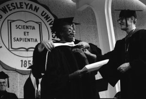 Brooks at Commencement 1973