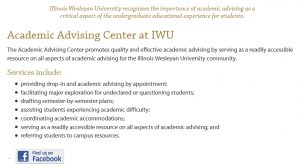 Advising Center homepage