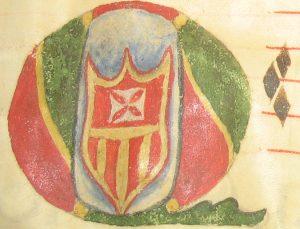 Illuminated initial letter Q