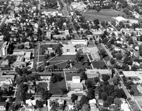 1970 campus aerial view