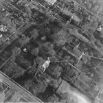 Aerial view of campus from the north, ca. 1933