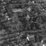 Aerial view of campus from the south, ca. 1933