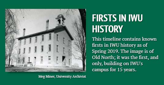 IWU Firsts timeline title card