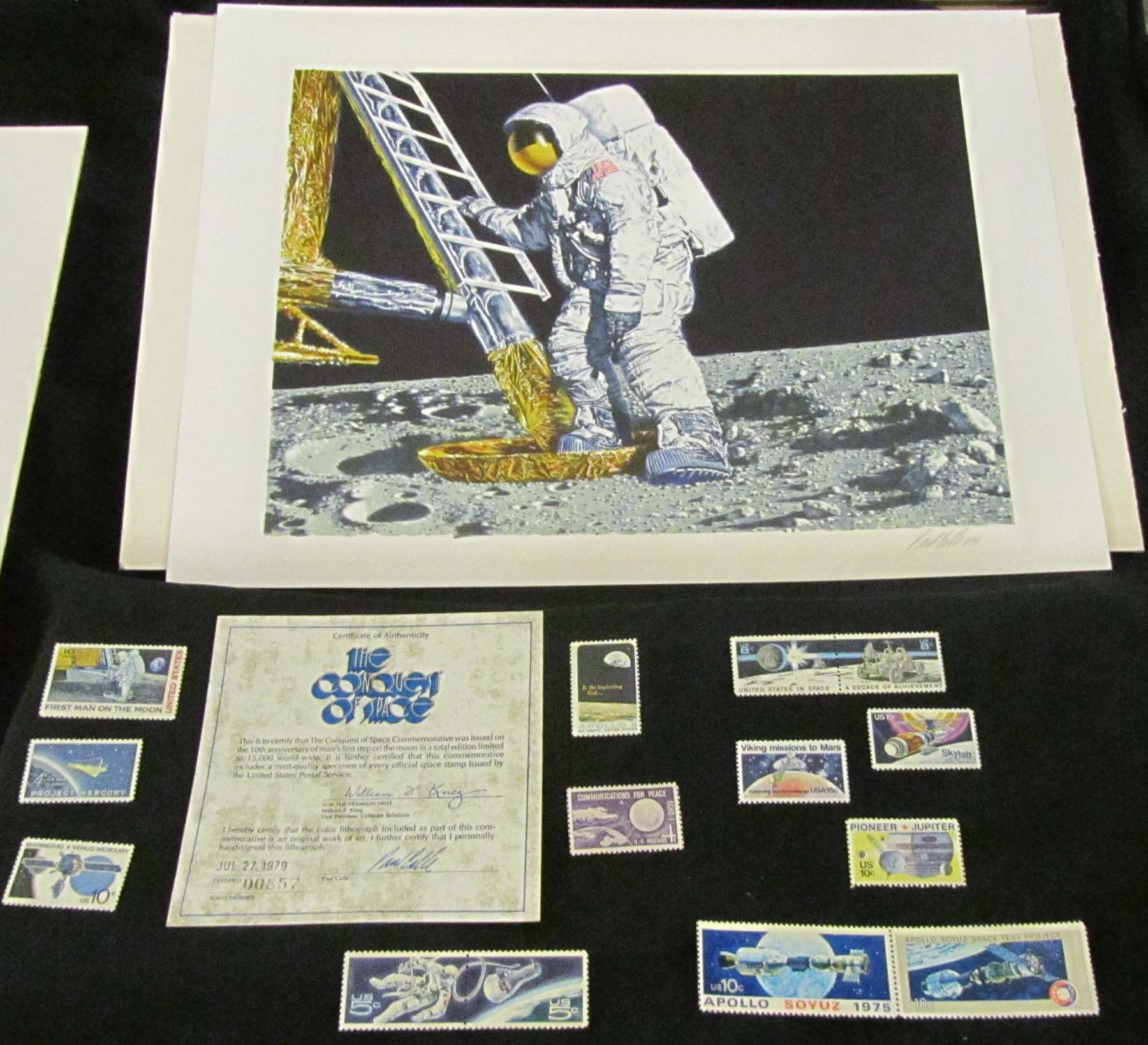 stamps set and commemorative print