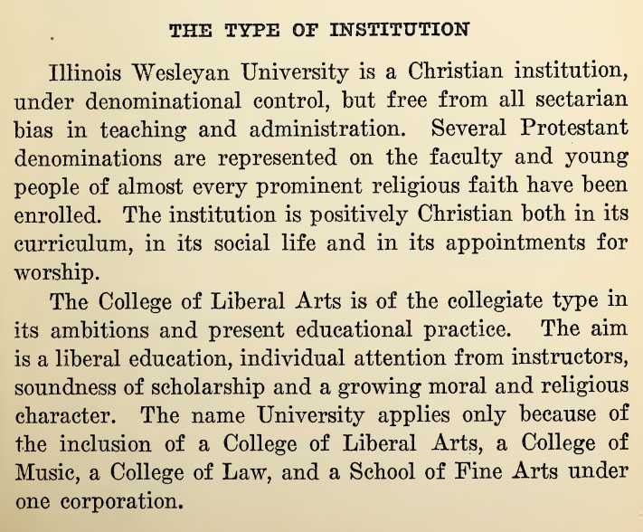 1920 Type of Institution statement