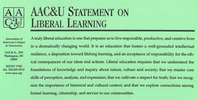 AACU Statement on Liberal Learning