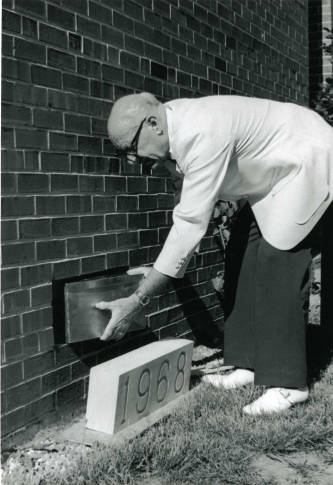 Dodds Hall time capsule placement