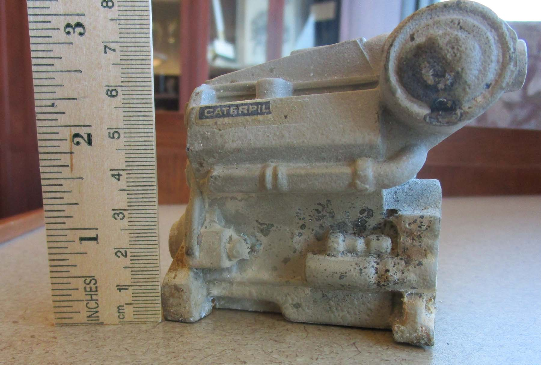 Caterpillar engine in miniature