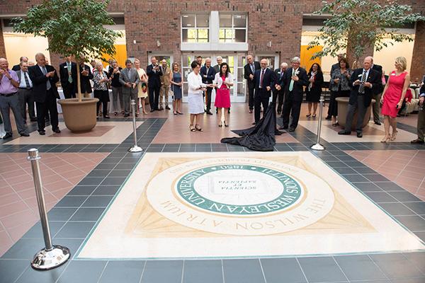 Wilson Atrium seal unveiling