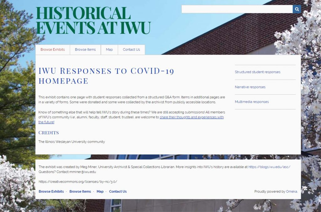 covid exhibit page