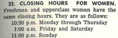 excerpt from1968-69 IWU student handbook