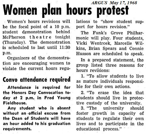 May 17, 1968 Argus coverage