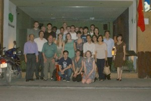 With parents of our alumni in Hanoi--probably a record IWU gathering in that city!