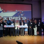 Our FDIB group on stage @America in Jakarta