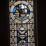 A stained glass window from the Dutch building