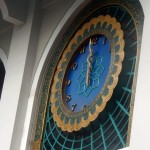 The clock in the national mosque is an excellent example of Islamic Art
