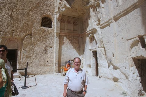 This is the entrance to a cave church in Cappadocia. Dates from 11th century.
