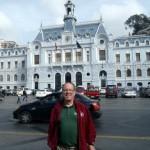 The main square in UNESCO Heritage City Valparaiso Chile