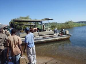 People transport across the Zambezi River