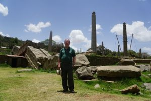 Amid the steles in Aksum