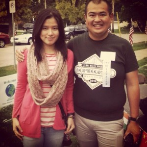 Indonesian student Brigitta Jakob '17 met alumnus Dr. Nurman Noor '08, also from Indonesia