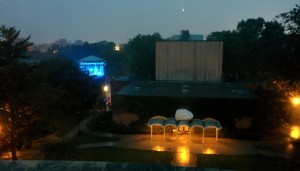 Ames Plaza in the Rain