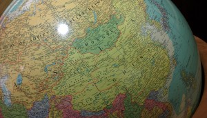Globe featuring USSR from former Illinois congressman