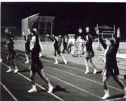 Titan cheerleaders take part in the IWU homecoming celebrations 1971.