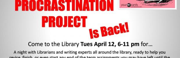 Anti-Procrastination Project Poster (Flyer Size) Spring 2016