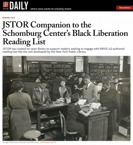 JSTOR Companion to Schomburg's reading list