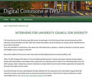 University Council on Diversity Alumni interviews