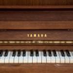 wooden vintage piano