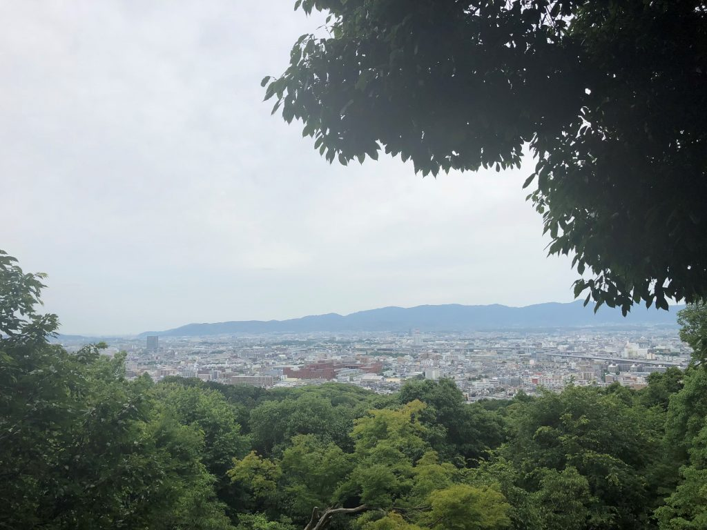 Kyoto city lookout Fushimi Inari